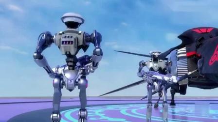 神兽金刚:王民希望和元神联手打败黑士兵,他带元神乘坐黑战机