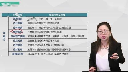 《初级会计实务》考点1.2:会计科目-负债类、共同类、所有者权益类