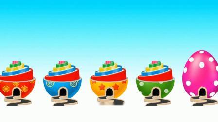 奇趣蛋豆豆滑梯游戏 认识颜色 益智英语动画玩具