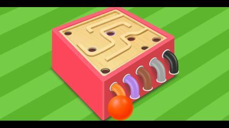 球球找家游戏  认识颜色 益智英语动画玩具