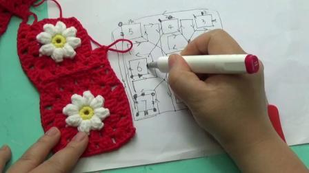 花朵包包教程6用毛线钩织