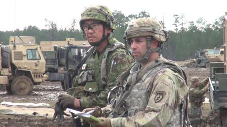 日陆自与美陆军于路易斯安那州进行协同训练