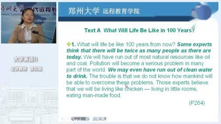 10Text A What Will Life Be Like in 100 Years_