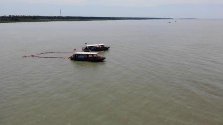 航拍查干湖应急演练短视频