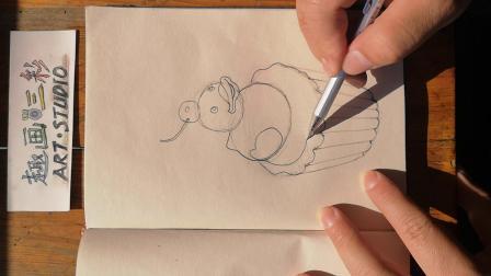 《有鸭子的小蛋糕》彩铅画,杭州趣画三彩创意艺术中心