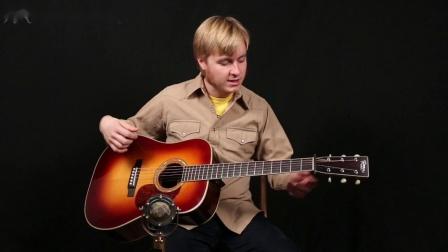 Chris Luquette展示他的Preston Thompson D-BA CRL签名款吉他