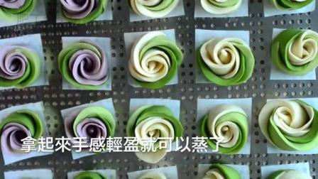 【Eng Sub】抹茶玫瑰湯種饅頭 放兩三天都超軟超綿 Matcha Rose