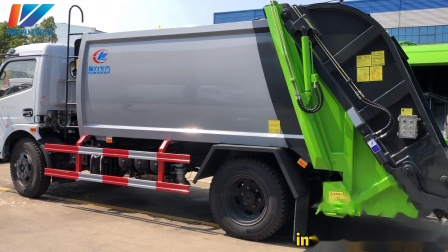 Dongfeng 5tons Garbage Compactor Truck with Swing Arm Trash Bin