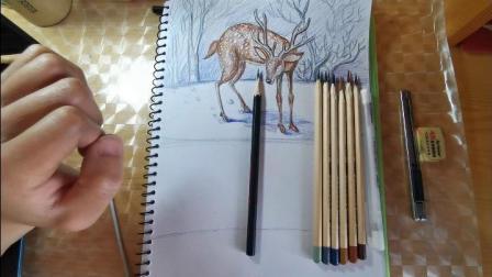靳老师绘画教学《寂静的冬日 》上