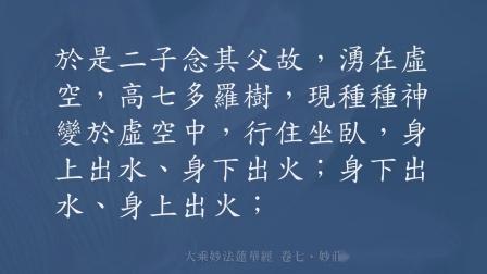 27. 妙法莲华经 卷七·妙庄严王本事品 第二十七