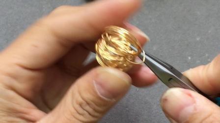 【回眸工坊巴洛克珍珠绕线课程】6-巴洛克珍珠鸟巢戒指