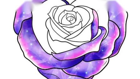 画一朵美丽的花。
