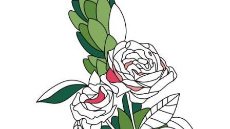 画一朵美丽的花