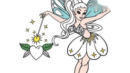 画一个美丽的小仙女。