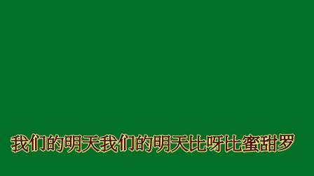 北新区喜洋洋广场舞《我们的生活比蜜甜》字幕文件下载可以在会声会影中应用