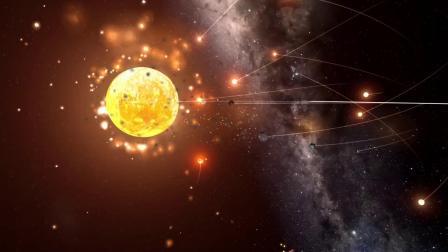 宇宙模拟,九个大小不一的天体轮番撞击地球,希望现实中不要发生