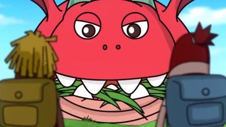 搞笑吃鸡动画:恶龙出来偷吃被萌妹撞见,求萌妹不要跟客服达达说.mp4