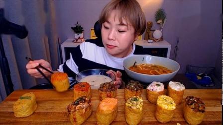 韩国吃播-挑食的新姐-20200227【饭团、面】-1