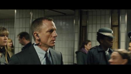 007大破天幕杀机片段在地铁站追警察 国语版