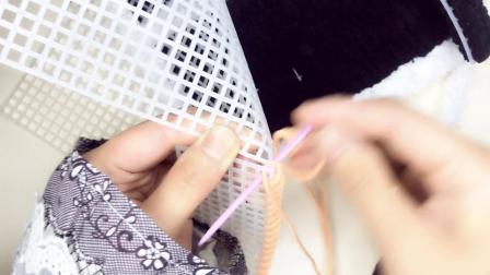 绒尚手工-泫雅包包珊瑚绒包包手工毛线包冰条毛线包包缝制视频04花样大全图