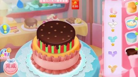 巴啦啦小公主做蛋糕 制作美味蛋糕 亲子装扮游戏.mp4