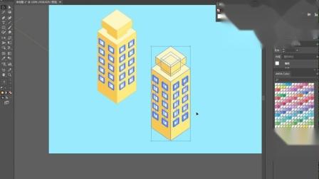 2.5D立体插画教程第07课上:建筑绘制方法