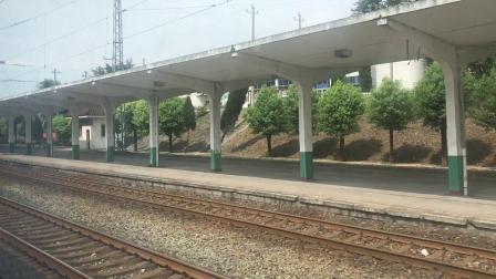 K1610次(昆明-襄阳)通过焦柳线宜城站【车厢视角】