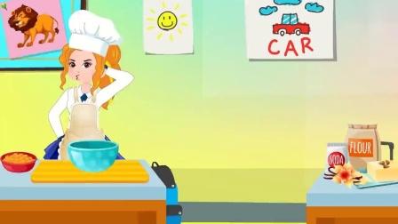 儿童卡通片:小姐姐制作鞋子蛋糕.mp4