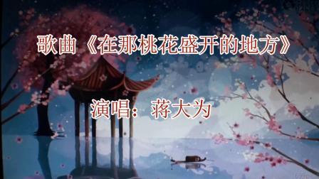 歌曲《在那桃花盛开的地方》演唱:蒋大为 摄制熊中志(梅城公园桃花一撇)