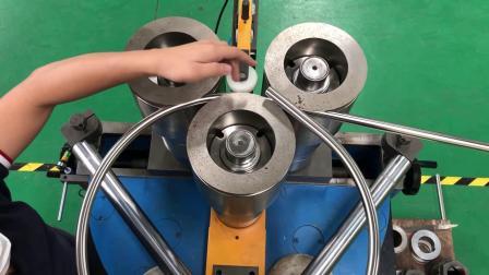 数控滚弯机,不锈钢管弯曲成阿基米德曲线造型,型材弯曲机