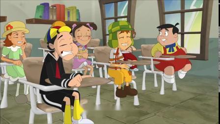《邻家小鬼》片段:查沃在课堂上搞乱