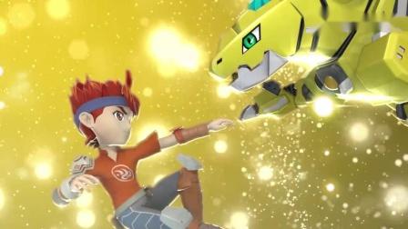 星兽猎人:男孩待人真诚,感动了电击兽,要和他做战斗伙伴.mp4