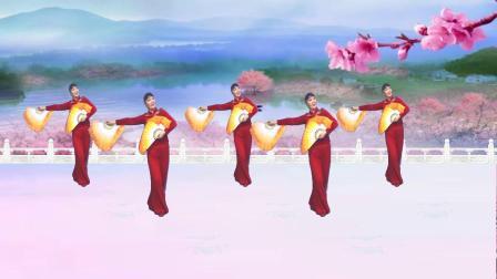湖南乐哈哈广场舞《又唱浏阳河》双扇舞 编舞 邓斌