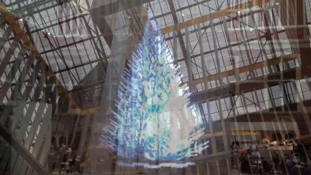 7 Meter Hologram Christmas tree-Rijksmuseum Amsterdam.mp4