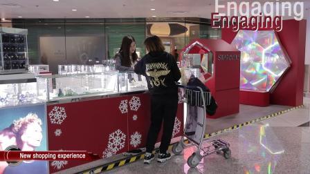 香港国际机场广告参考:施华洛世奇互动体验区
