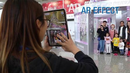 香港国际机场广告参考:中国太平节日装置展示区