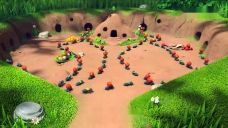 萌鸡小队趣自然:小蚂蚁真聪明,为了帮麦奇找妈妈,拼成麦奇形状.mp4