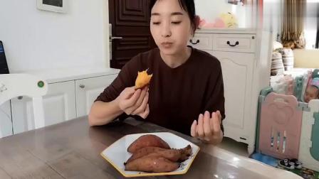 红薯怎么吃最好吃?教你电饭锅烤红薯,简单又美味.mp4