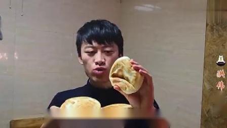 早餐饼别再买了,教你做面包饼,简单又快捷,蓬松柔软,超好吃.mp4