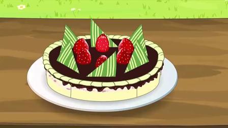 羊羊们请族长帮忙切蛋糕,结果让他们无语了.mp4