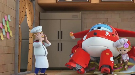 超级飞侠:乐迪帮小女孩装饰蛋糕,却帮了倒忙,摔倒在蛋糕上了.mp4