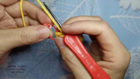 第54集大小宝手工梨的钩法0基础入门钩针编织视频教程,可当挂件,小孩玩具高清视频