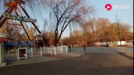 3月17日鞍山市铁东区二一九公园游乐园项目游乐项目全部停业.mp4