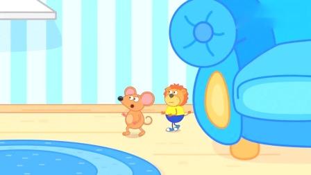 亲子益智儿童卡通片:小狮子与小老鼠抢小蛋糕吃,只因蛋糕太美味.mp4
