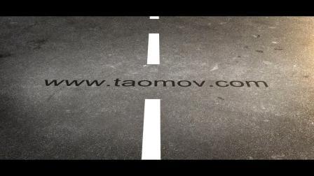 122创意视频制作公路上行走马路地面出文字宣传片动画AE模板