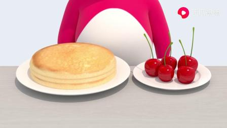 麦克斯和弗特要做水果蛋糕吗?把水果放在蛋糕上?迷你特工队游戏.mp4