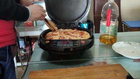 双重火腿披萨