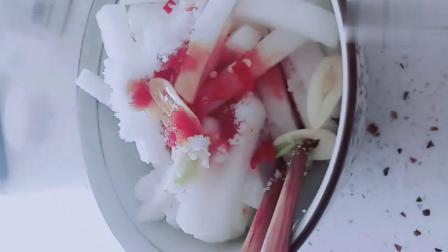 爽口开胃的酸辣萝卜条,这样做,清脆爽口,酸辣开胃.mp4