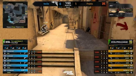Fnatic vs forZe - ESL Pro League Season 11 - CS -G