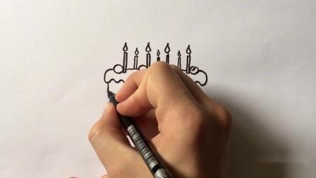 非常简单!如何把单词CAKE变成卡通蛋糕?儿童纸上艺术...mp4